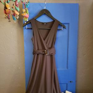 Banana Republic brown belted dress
